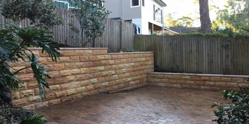 Block Wall Stone Cladded