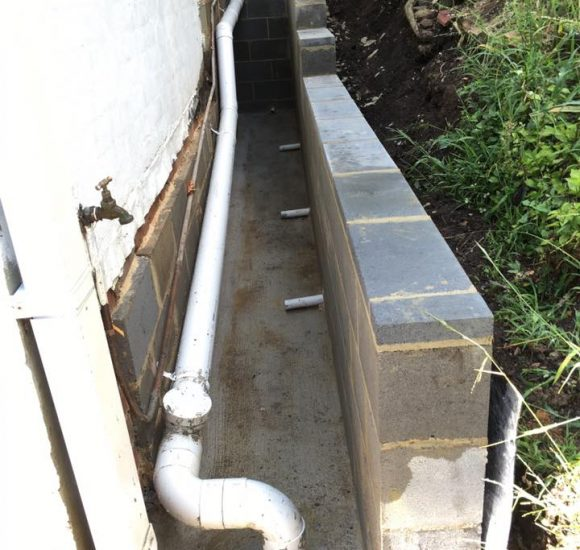 Drainage Retaining Wall